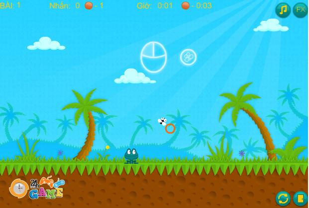game ếch xanh bắt ruồi