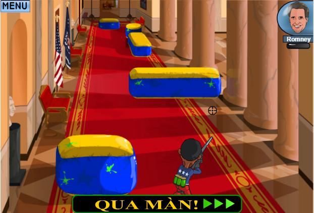 choi game Obama bắn súng sơn