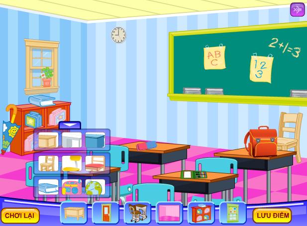 choi game trang trí lớp học