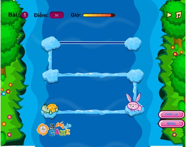 chơi game cuộc đua Rùa và Thỏ
