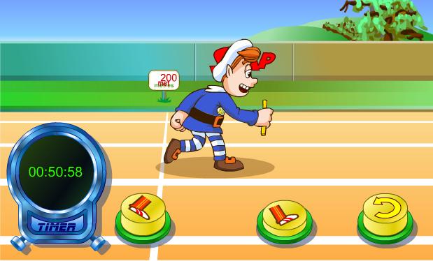 chơi game thi chạy 1200m
