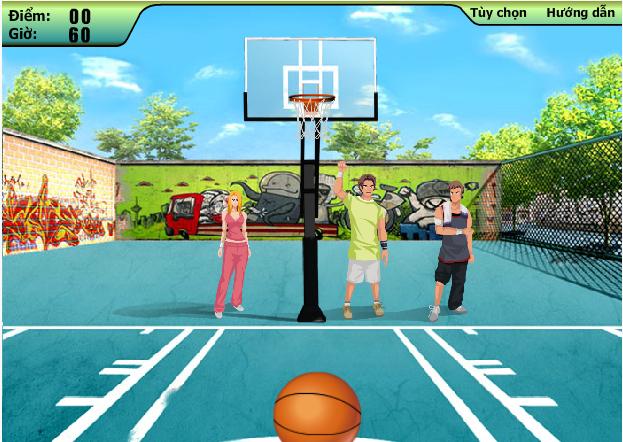 choi game thử thách bóng rổ