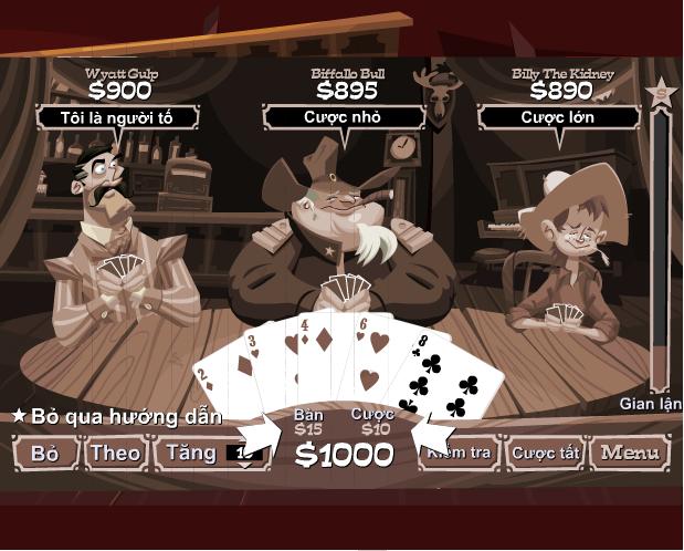 game đánh bài xì tố