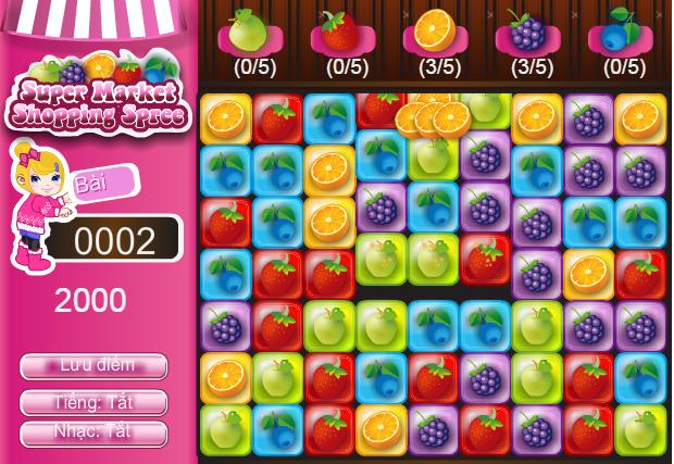 choi game siêu thị trái cây