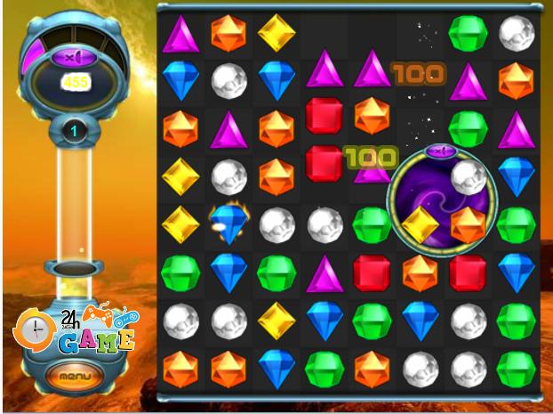 choi game xếp kim cương Bejeweled 2