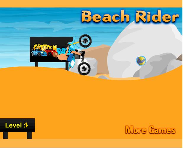 choi game đua xe bên bãi biển