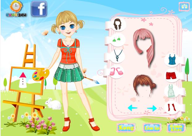game thời trang họa sỹ