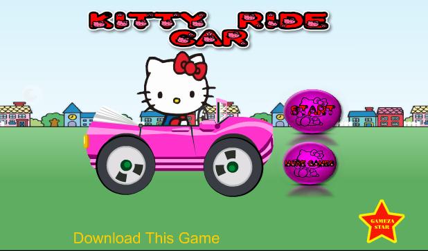 Kitty lái xe