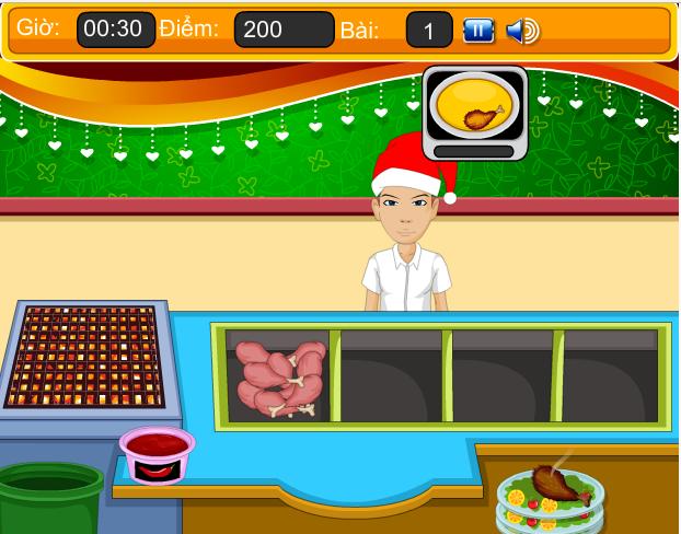 choi game quán ăn nhanh