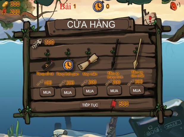 choi game thổ dân xiên cá