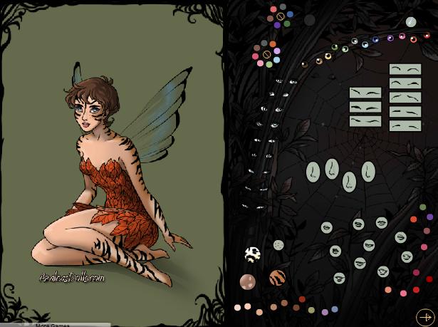 choi game thời trang thiên thần bóng tối