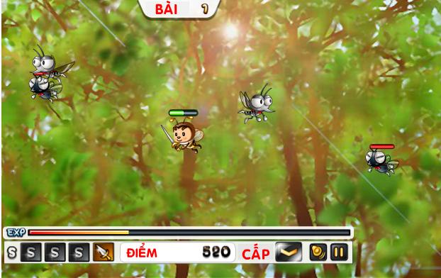 choi game dũng sĩ ong nhí