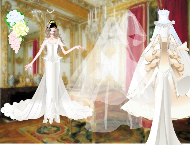 game mặc váy cô dâu