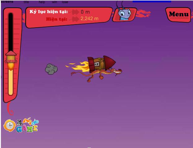 choi game rồng lửa tập bay