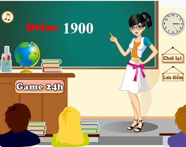 choi game cô giáo của em