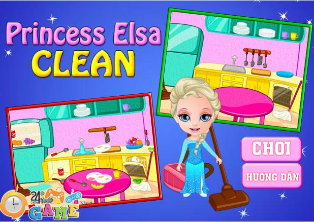 Elsa dọn nhà