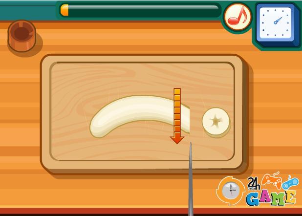 game học làm bánh chuối