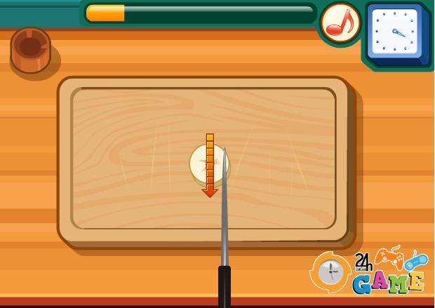 choi game học làm bánh chuối