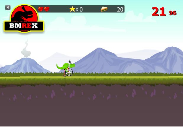 game khủng long đi xe