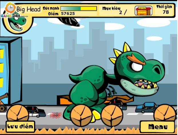 game khủng long xổng chuồng