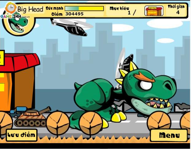 choi game khủng long xổng chuồng