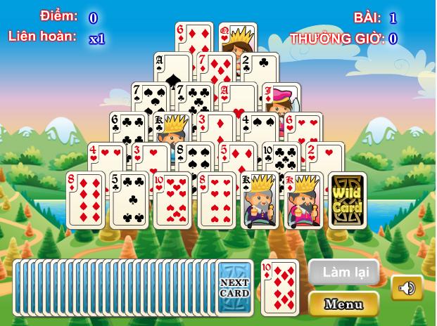 game xếp bài hình thápl