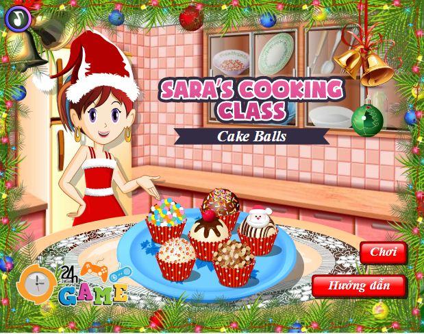 Làm bánh ngọt giáng sinh