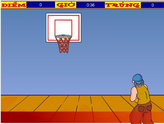 choi game thi đấu bóng rổ