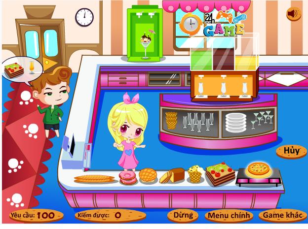 game nhà hàng bánh ngọt