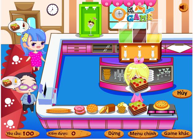 choi game nhà hàng bánh ngọt