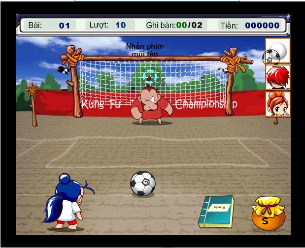 game kungfu bóng đá