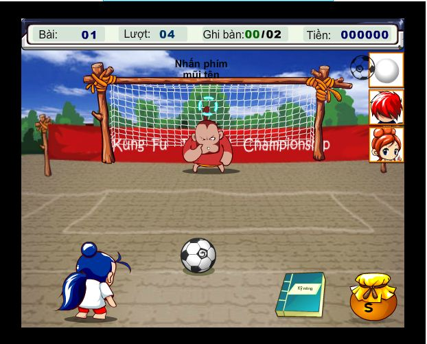 choi game kungfu bóng đá