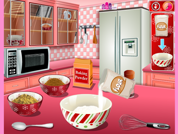 game Làm bánh hình ngôi nhà