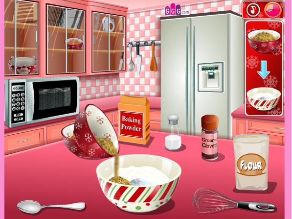 choi game Làm bánh hình ngôi nhà