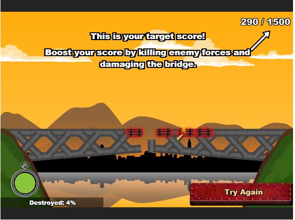 choi game cây cầu chiến thuật