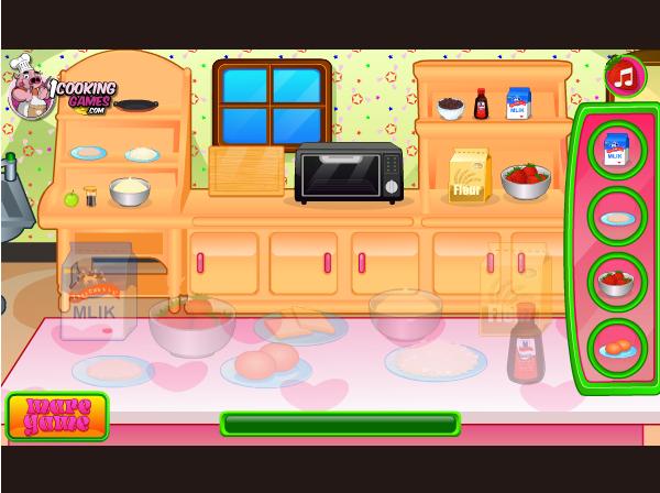 game làm kem dâu tây