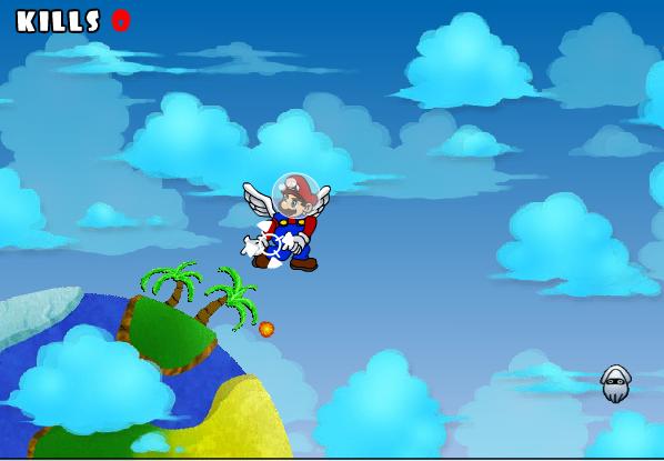 game Mario đại chiến bầu trời