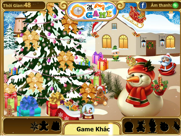 choi game tìm quà giáng sinh
