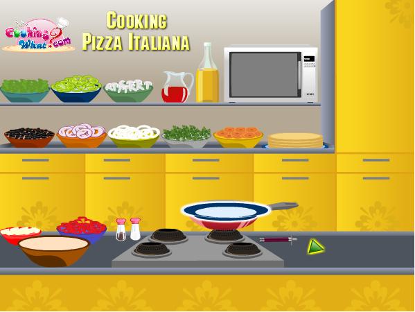 chơi game làm bánh piza Ý