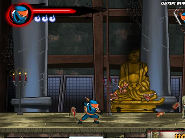 chơi game cuộc chiến giữa zombie và ninja