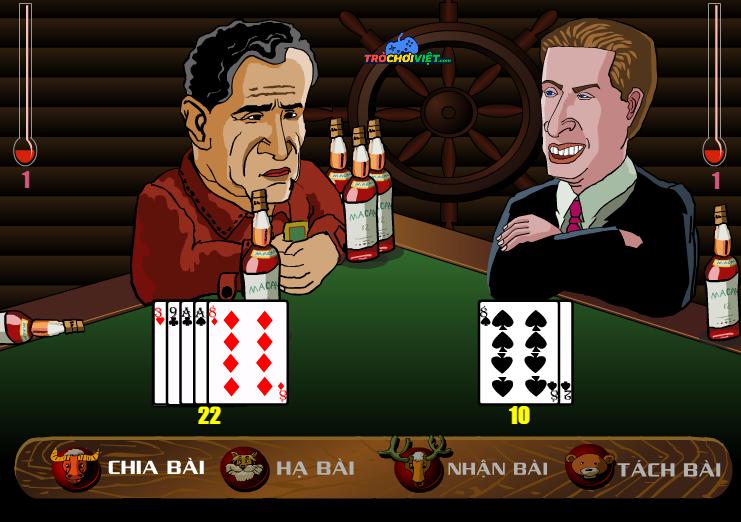 chơi game đánh bài phạt rượu