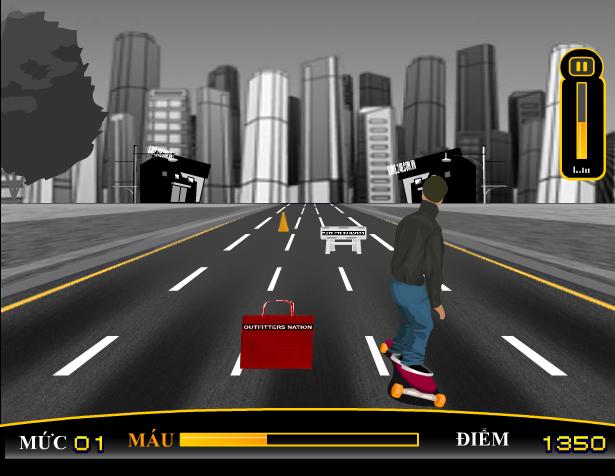 chơi game lướt ván đường phố