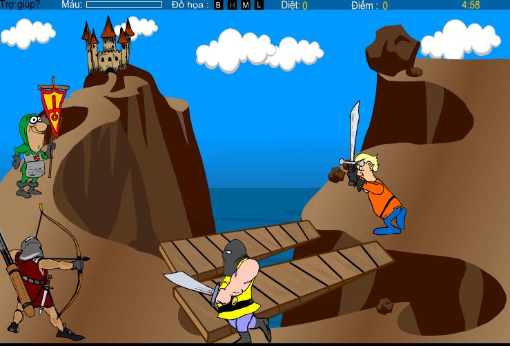game người bảo vệ lâu đài