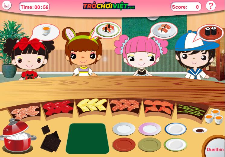 game nhà hàng Shushi bận rộn