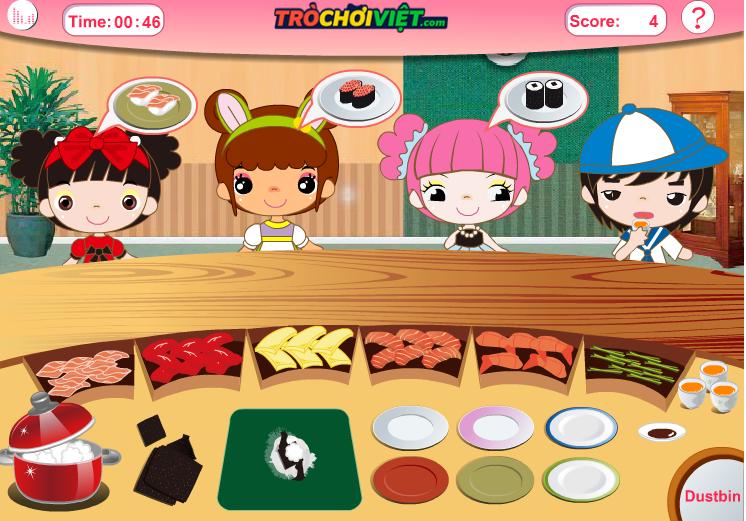 chơi game nhà hàng Shushi bận rộn