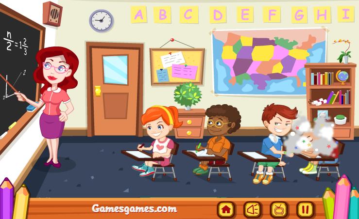 chơi game trò đùa lớp học