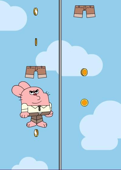 chơi game Gumball leo cột
