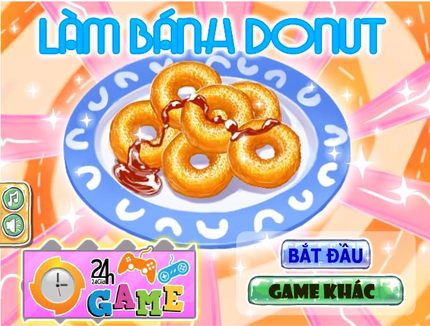 Làm bánh Donut