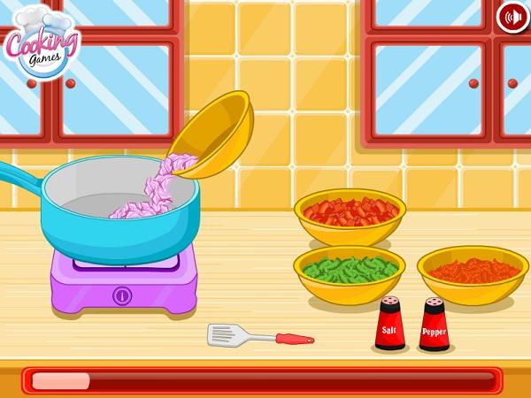 chơi game làm bánh xèo