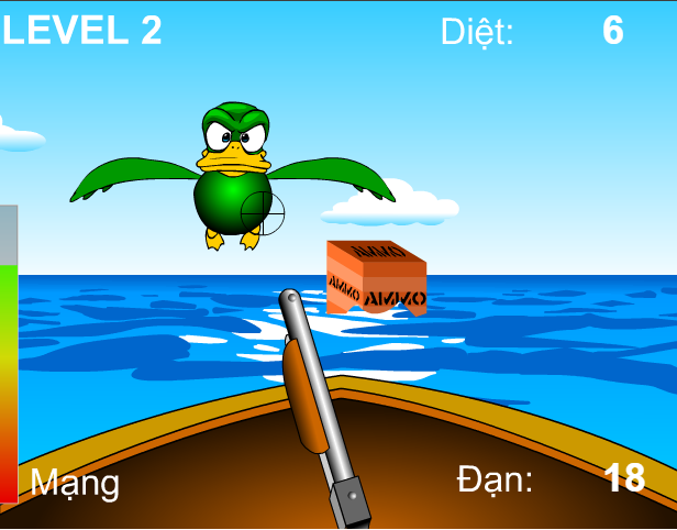 chơi game săn vịt trên biển